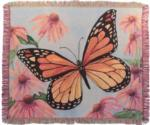 NEW Monarch in Flight 3-D Tapestry Throw