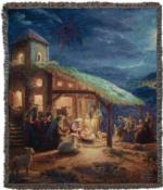 NEW The Nativity Tapestry Throw
