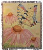 Fluttery Butterfly Tapestry Throw