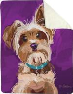 Bandit the Yorkshire Terrier Sherpa Fleece Blanket