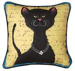 Purrfect Poses Black Cat, CLIMAWEAVE Pillows