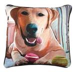 Paws Tennis Anyone Yellow Lab, CLIMAWEAVE Pillows
