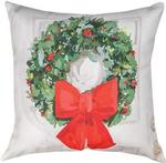 White Christmas Wreath CLIMAWEAVE Pillows