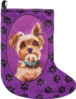 Bandit the Yorkshire Terrier Christmas Stocking