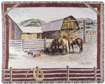 Ranch Life Tapestry Throw