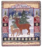 A Happy Christmas Tapestry Throw