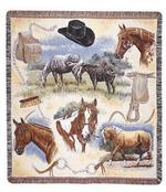 Western Flavor Tapestry Throw