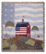 American Farm Tapestry Throw
