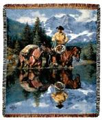 Reflections of the Rockies Tapestry Throw