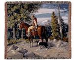 Mountain Rider Tapestry Throw