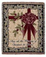 May All the Blessings of Christmas Tapestry Throw