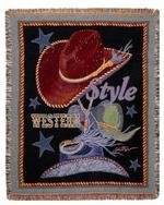 Western Style Tapestry Throw