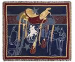 Back in the Saddle Tapestry Throw