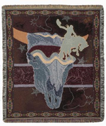 Spirit of the Old West Tapestry Throw
