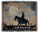 NEW True Cowboy Tapestry Throw