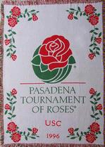SALE Tournament of Roses USC Throw Blanket