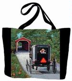 Amish Buggy Tapestry Tote Bag