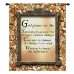 God Grant Me Serenity Prayer Tapestry Wall Hanging