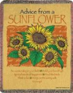 NEW Advice from a Sunflower Tapestry Throw