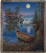 NEW Moonlight Bay, Psalm 46:10 Tapestry Throw