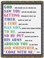 God Saw You Getting Tired Tapestry Throw