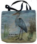 NEW A Nice Day Heron Tapestry Tote
