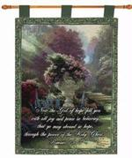 The Garden of Hope with Verse Tapestry Wall Hanging