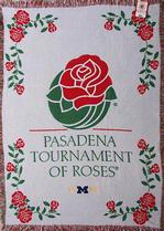 SALE Tournament of Roses Michigan Throw Blanket