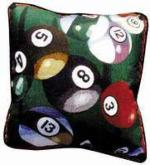 Let's Play Pool Tapestry Throw Pillow