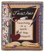 Teacher Tapestry Throw